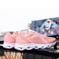 金帅威女鞋2019春秋季运动鞋女休闲潮流轻便透气鞋网面跑步鞋时尚跑步鞋