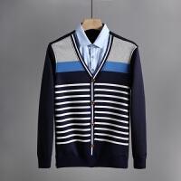 品牌剪标货冬季男士衬衫领假两件加绒加厚保暖针织衫店 C4L50500