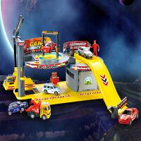 儿童汽车维修中心飞机场模型汽车拼装停车场玩具轨道
