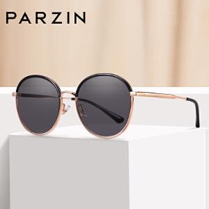 帕森2019复古 新品镂空设计尼龙太阳镜女防紫外线半框潮墨镜91613
