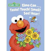 英文原版 芝麻街:阿莫的五感 启蒙纸板书 Elmo Can... Taste! Touch! Smell! See!