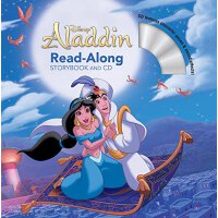 英文原版 阿拉丁 书+CD 有声读物 Aladdin Read-Along Storybook and CD 迪士尼故