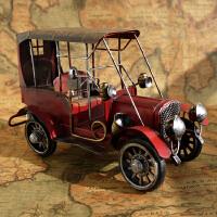 美式复古家居装饰品客厅电视柜酒柜摆件工艺品摆设铁皮老爷车模型