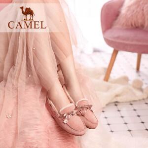 骆驼女鞋冬季新款孕妇鞋平底秋鞋子韩版懒人单鞋女豆豆鞋