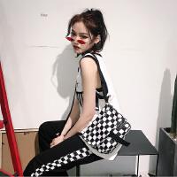 韩国时尚原宿男女包帆布包小包嘻哈土酷少女蹦迪学生单肩包斜挎包