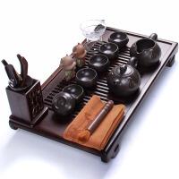 尚帝 整套功夫茶具 黑檀小明案茶盘紫砂大福茶具套装 XMS-2014W14H36D1