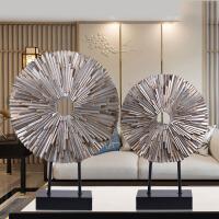 创意家居摆件现代简约玄关客厅电视柜酒店样板房装饰中式工艺礼品