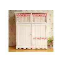 韩式田园简约现代五斗柜实木收纳柜客厅柜卧室里的抽屉柜床头斗柜 整装