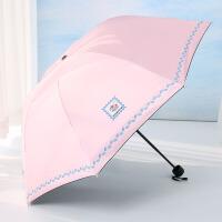 雨伞女晴雨两用韩国小清新遮阳伞折叠简太阳伞防晒防紫外线