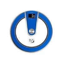 贝雅人体秤圆形电子称语音体重秤健康秤家用秤计量器家用高精度BY828GZ 语音播报、时间日期温度、8MM钢化