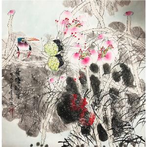 武俊婷《花鸟30》著名画家