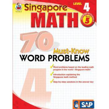 【预订】70 Must-Know Word Problems, Grade 5 预订商品,需要1-3个月发货,非质量问题不接受退换货。