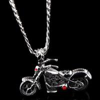 钛钢摩托车饰品项链男不褪色个性潮流吊坠霸气机车锁骨链