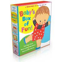 现货 英文原版 Baby's Box of Fun 宝宝认知翻翻书 Karen Katz