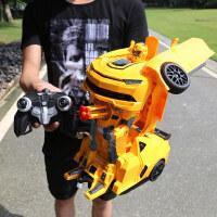 儿童玩具车金刚变形机器人大黄蜂男女孩充电动遥控汽车3-6-4周岁