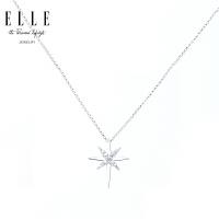 ELLE 饰品 闪耀星星重叠设计 925银镶锆石项链 3033102