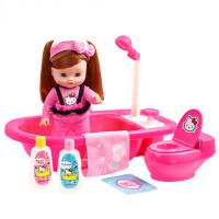 KT猫儿童过家家女孩玩具仿真洗浴组合仿真洋娃娃角色扮演