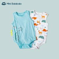迷你巴拉巴拉婴童三角衣宝宝亮彩连体衣儿童包屁衣2件装夏季新品