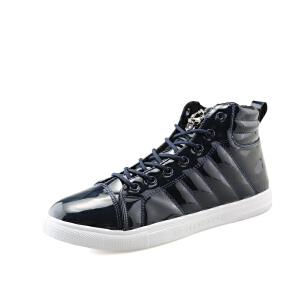 透气英伦风休闲皮鞋青年男鞋子系带青春潮流时尚男士潮鞋