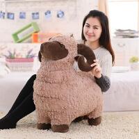 可爱仿真绵羊公仔毛绒玩具玩偶羊布娃娃儿童节创意生日礼物送女生