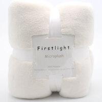 君别双面棉毯珊瑚绒法兰绒毯子铺床学生宿舍单人双人毛毯冬季床单单件垫床薄款 米白色 尺寸标准 229*229cm擦手毛巾