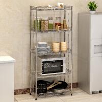 蜗家不锈钢厨房置物架 浴室卫生间角架 卧室落地层架 收纳架子Z655