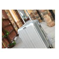 铝框拉杆箱万向轮20旅行箱24行李箱学生密码箱包皮箱子26寸男女潮世帆家SN5570 大气银 时尚拉链箱