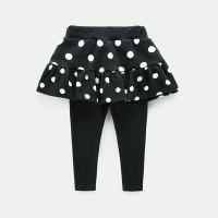女童裙裤2018新款时尚纯棉打底裤春季童装潮女宝宝假两件裤子