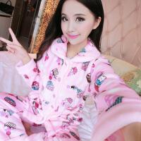 2018 新款加厚睡衣女士长袖秋冬季保暖睡衣套装大码韩版家居服性感潮流