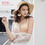 【都市丽人】文胸无钢圈经典时尚聚拢蕾丝性感C杯薄款女士内衣2B6509