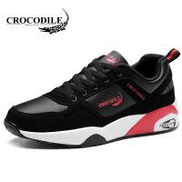 鳄鱼恤运动鞋系带跑步鞋百搭慢跑鞋舒适男鞋