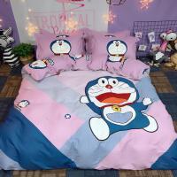 君别儿童被套四件套1.5m大黄蜂床上用品男孩女卡通床单三件套 色 快乐