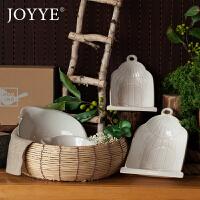 JOYYE 做旧复古沙拉碗米饭碗创意陶瓷碗大汤碗美式乡村风餐具