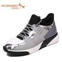 红蜻蜓男鞋秋冬新款运动鞋时尚潮流户外休闲鞋韩版跑步增高鞋单鞋