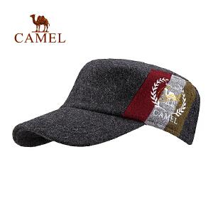 camel骆驼户外运动帽 羊毛保暖遮阳男女款军帽