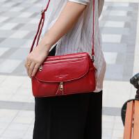 女士包单肩包包斜挎包单肩斜挎包女士包包真皮包牛皮小斜挎包中年妈妈包