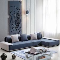 极简布艺沙发北欧布艺沙发大小户型极简现代简约客厅成套家具转角品牌沙发 1+2+贵妃