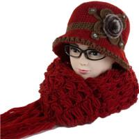 秋冬中老年女士毛线帽老年人冬季奶奶妈妈帽围巾