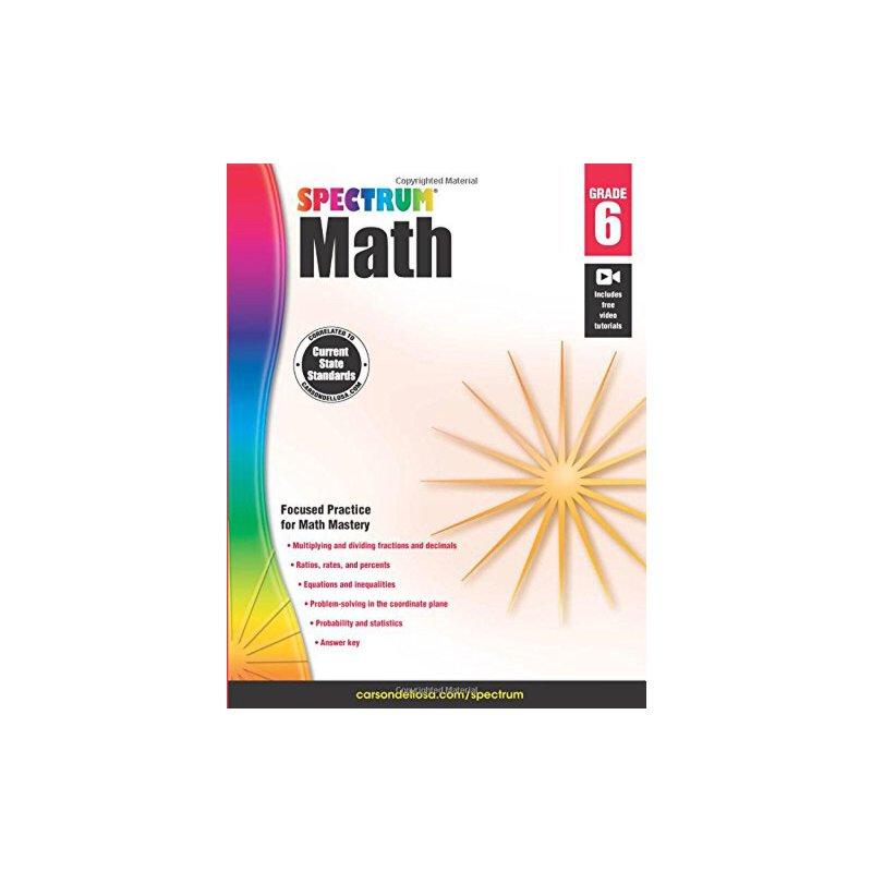 数学练习册,6年级 Spectrum Math Workbook, Grade 6