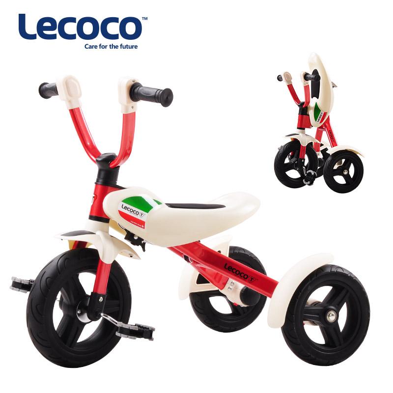 lecoco乐卡 儿童三轮车2.5-6岁宝宝可折叠幼儿脚踏车遛娃溜娃一键折叠 便捷灵动 高性能密崎轮