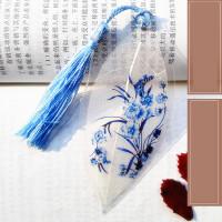 古风叶脉叶子创意书签流苏中国风学生奖品复古典教师节礼物