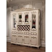 欧式酒柜简约双门带抽描银雕花酒柜客厅装饰柜鞋柜储物柜家具 4门