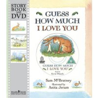 Guess How Much I Love You 猜猜我有多爱你(书+DVD) ISBN9781406323955英