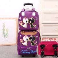 拉杆包轻便出差短途旅游拖包带轮子的旅行包大容量子母包套装手提行李包