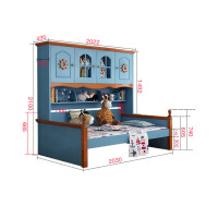 衣柜床一体多功能家具地中海美式床带储物省空间床男