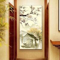 玄关画花开富贵新中式客厅玄关装饰画水墨走廊过道竖版挂画餐厅现代花开富贵荷花 0