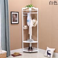 衣帽架落地卧室实木挂衣架墙角置物架简约转角衣服架欧式创意衣架