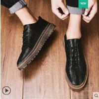 男鞋户外新品鞋子男士皮鞋网红时尚潮流新款百搭英伦小皮鞋男韩版商务休闲潮鞋