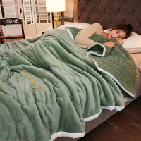 加厚三层毛毯被子冬季用双层珊瑚绒床单人宿舍学生保暖法兰绒毯子