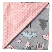 君别豆豆毯ins宝宝盖毯北欧风春夏薄款婴儿小毯子儿童被子护肚空调毯幼儿园午睡卡通小毛毯 魔法精灵(小号 100*80C